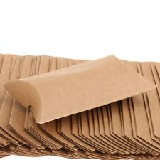 50 Stück Kraftpapier Kissen Geschenkboxen Pralinenschachtel
