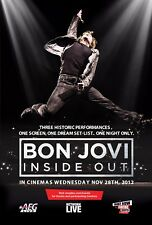 "Bon Jovi ""Inside Out"" Small Movie Poster - Jon Jumping In The Air"