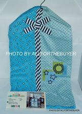 LAMBS & IVY ZOOTOPIA BLUE WITH BLACK STRIPE AND CIRCLE DESIGN DIAPER STACKER NEW