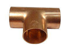 28mm End Feed Tee | Solder Plumbing Fitting For Copper Pipe
