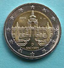 Deutschland  2 Euro Gedenkmünze 2016 A Sachsen - Zwinger UNC aus Rolle