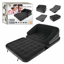 INFLABLE 5 IN 1 SOFA AIRBED DOUBLE COUCH LOUNGER MATTRESS BLOW UP GUEST BED