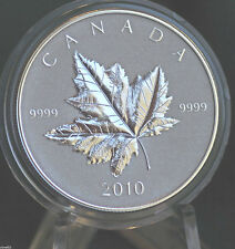 2010 CANADA Piedfort Silver Maple Leaf Reverse proof 1 oz. -- coin only