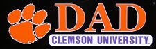 "CLEMSON TIGERS ORANGE PURPLE DAD DECAL STICKER 2 3/4"" X 7 1/2"""