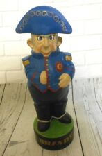 Vintage Royal Navy Admiral Ship Captain BRANDY Figure Albertas Ceramic Decanter