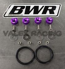 Blackworks BWR Quick Release Fastener Set Purple Bumper Trunk Fender Hatch