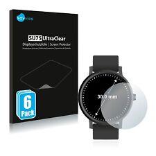 6x Savvies Films protection Ecran pour Montres (circulaire Diamètre 30mm) prot