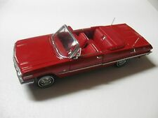 1:24 SCALE WELLY '63 CHEVY IMPALA CONVERTIBLE DIECAST CAR MODEL W/O BOX