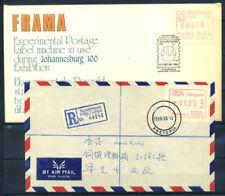 Sudafrica 1986 Busta 100% Automatici Pretoria, Johannesburg