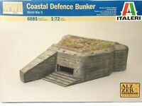 Italeri Coastal Defence Bunker World War 2 6085 Grey Plastic 1:72 Scale Model