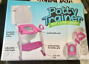 Potty trainer seat and step ladder; brand new in box