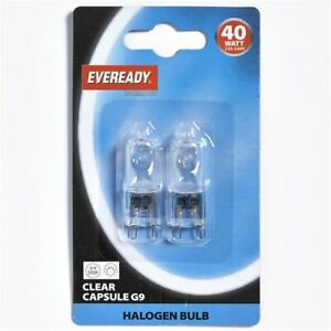 Halogen Capsule Bulb Energy Class E Halopin Oven Light Lamp Cooker Twin Pack 40W