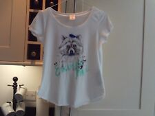 Girls T shirt - Abercrombie kids - size M - animal motif with sequins