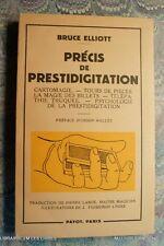 (1709BE.9) PRECIS DE PRESTIDIGITATION 1953 BRUCE ELLIOTT PREFACE ORSON WELLES