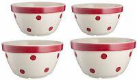 Mason Cash Red Polka Dot Ceramic Vintage Kitchen Baking Mixing Salad Bowl