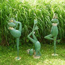Frosch Metall ArtFerro Dekofrosch Gartendekoration Skulptur Metallfrosch