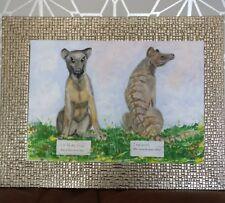 TIGRE DELLA TASMANIA Acrilico ORIGINALE a bordo regalo thylacine Australia estinte