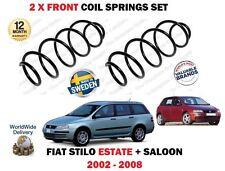 FOR FIAT STILO 1.2 1.4 16V ESTATE + HATCHBACK 2002--> 2 x FRONT COIL SPRINGS SET