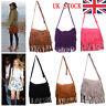 UK New Womens Ladies Shoulder Bag Fringe Messenger Tassel Bag Handbag Crossbody