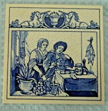 Burroughs Wellcome Co. Delft Holland Pharmacy Pill Tile The Herbalist