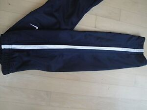 Nike Boy's Athletic Pants with Pockets Elastic Waist Size 4 Color Navy and White