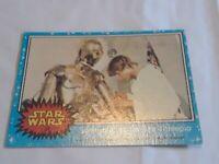 1977 Topps Star Wars Ser 1 Blue #27 Some Repairs For See-Threepio