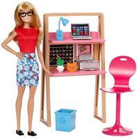Barbie Doll & Furniture Office Set DVX52