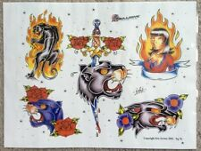 """Tattoo Studio Shop Flash Single By Eric Traditional Style Panther 11""""X14"""" Print"""