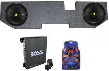 2 Kicker 12-Inch 600W Subwoofers W/ Dodge Ram Quad Cab '02- 12-Inch Box With