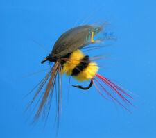 12 PCS Bees flies hook gold Trout Flies fly fishing #10 W/ Free Box D523