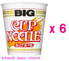 Nissin Cup Noodle Normal Flavor Big Size x 6pcs Japanese Instant Ramen Noodles
