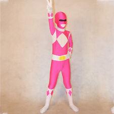Mighty Morphin Power Rangers costume kids Boys cosplay child Halloween bodysuit