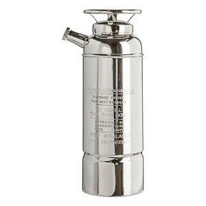 Fire Extinguisher Cocktail Shaker 40 fl oz Nickel Plated Brass Barware New