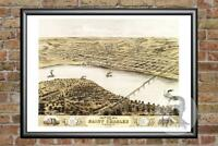 Old Map of St. Charles, MO from 1869 - Vintage Missouri Art, Historic Decor