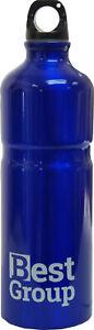 Best Group 750ml Hiking Walking Drinks Water Bottle Blue Aluminium Travel Flask