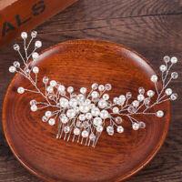 Wedding Bride Elegant Hair Comb Crystal Pearl Headwear Jewelry Hair Accessories