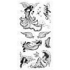 INKADINKADO RUBBER STAMPS  CLEAR ANGELS STAMP SET