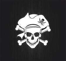 Sticker decal motorcycle car tuning room kids befroom pirates pirate skull r6