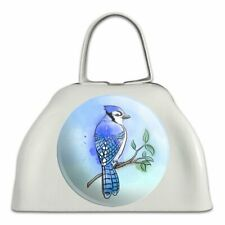 Blue Jay Watercolor Northeastern Bird White Metal Cowbell Cow Bell Instrument