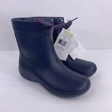 Crocs Women Girls Size 4 Navy Blue Freesail Shorty Rubber Rainboot Rain Boot NEW