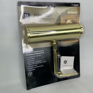 NEW GE Battery Operated 7-Inch Slimline Picture Light Kit Polished Brass