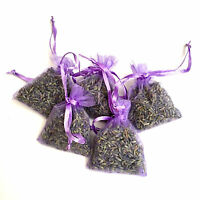 5 Lavender Bags Sachets Wardrobe Drawer Aromatic Repel Calming Air Fresh Organza