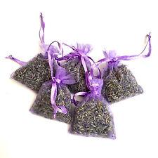 5 Lavender Bags Sachets Wardrobe Drawer Aromatic Repel Calming Air Fresh Organza