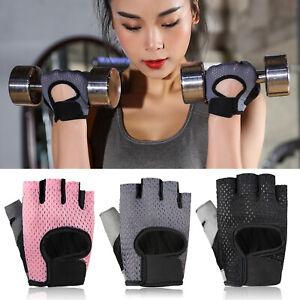 Men Women Fitness Gloves Gym Weight Lifting Sport Training Half Finger Mittens