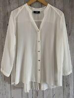 Womens / Ladies Wallis White Blouse Top Size Medium - Excellent Condition