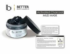Better Beauty Products Activated Charcoal Mud Mask Facial 4 clear skin 8.8oz h2