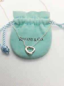 Auth TIFFANY & CO Silver Return to Tiffany Mini Heart Necklace