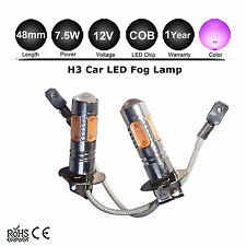 2 x Purple Super Bright H3 7.5W Car Auto LED Day Driving Fog Light Bulb Lamp DC