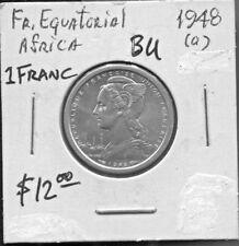 FRENCH EQUATORIAL AFRICA- FANTASTIC HISTORICAL ALUMINUM 1 FRANC, 1948 (a), KM#6