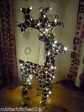 """LED Acryl Rentier stehend 100LED""""s Höhe 70cm für innen und außen  Weihnachtsdeko"""